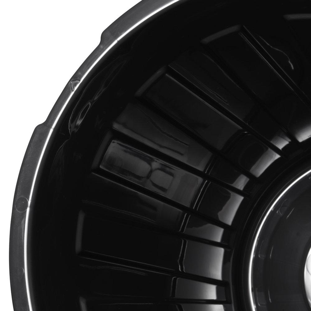 Argent PP Plastique Robuste ok Poubelle Universelle avec Couvercle Herm/étique 23 L Maxi Taille