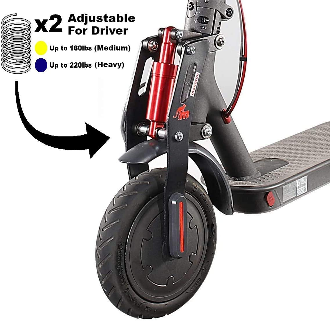front suspension upgrade for xiaomi scooter