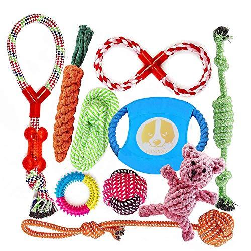 FONPOO Hundespielzeug, Hergestellt aus Natürlicher Baumwolle ungiftig und geruchlos Robust Besser für Zahnreinigung…