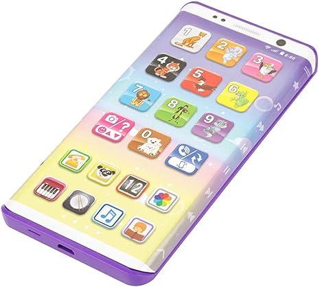 Acogedor Juguete para teléfono inteligente, Multifuncional educativo Juguete para teléfono inteligente de plástico con puerto USB Teléfono de juguete con pantalla táctil para niños, niños, bebés: Amazon.es: Bebé