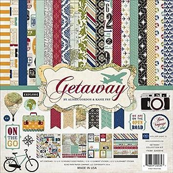 Amazon Echo Park Paper Company Ga63016 Getaway Collection