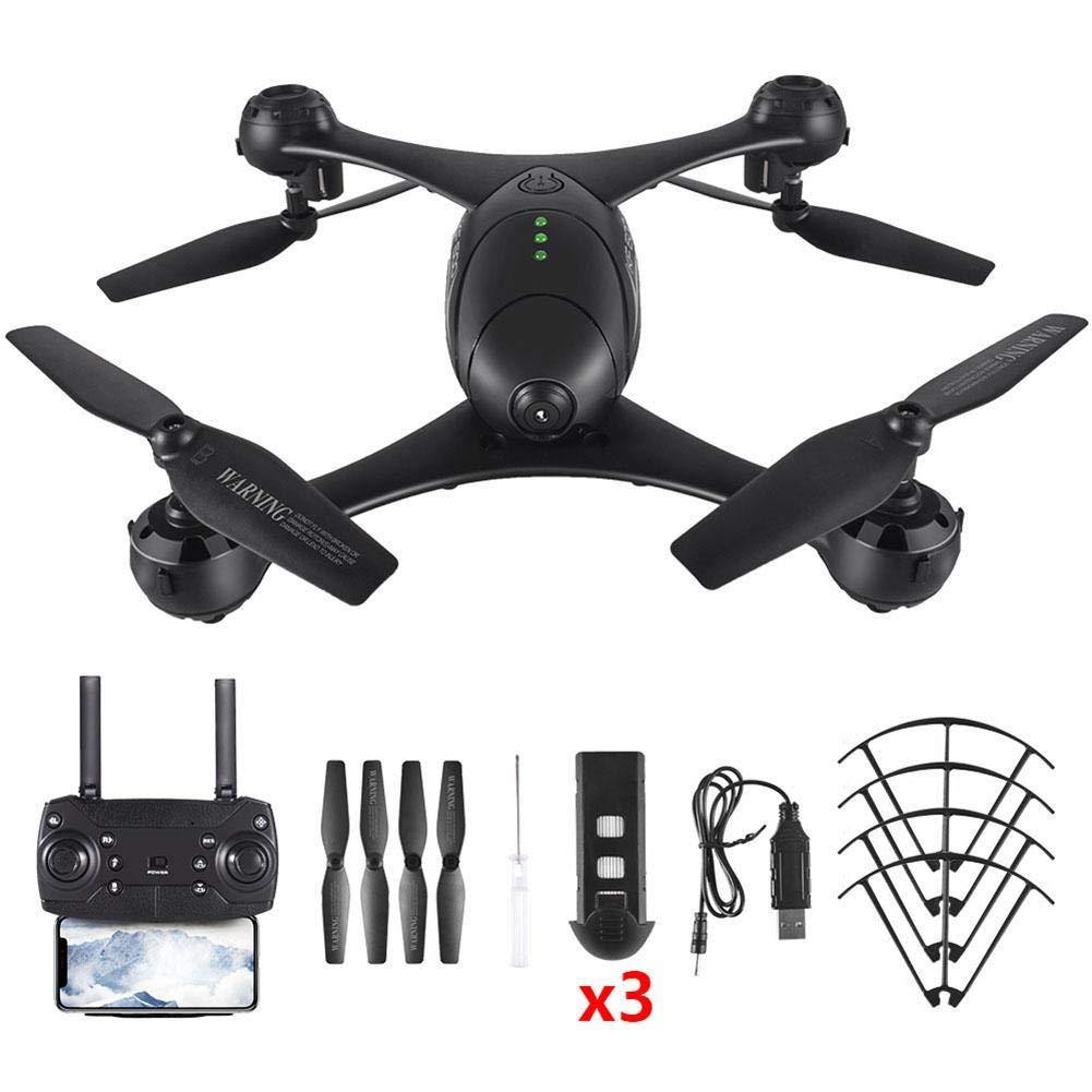 Drone con fotocamera, FPV Drone con videocamera HD 720P HD Live Video, atterraggio amd Take-off a 1 tasto, 360 Flip e modalità headless, controllo dei gesti, facile da pilotare per principianti