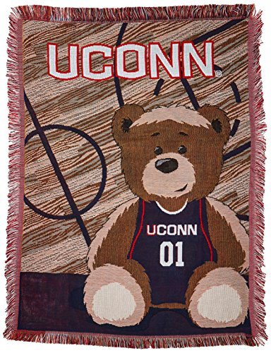 The Northwest Company Officially Licensed NCAA Connecticut Huskies Half Court Woven Jacquard Baby Throw Blanket, 36