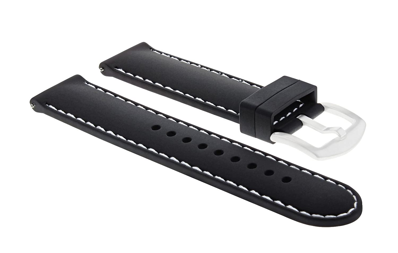 22 mm Rubber Diver Band Strap for TAG Heuer Carrera Monaco CalibreブラックWS 6p  B07D6NTHB3
