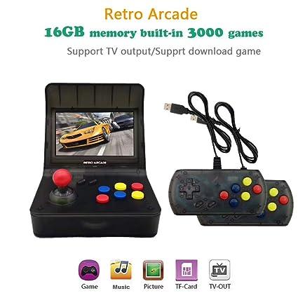 Amazon.com: Mini Arcade Game Retro PSP Palm Arcade Dual ...