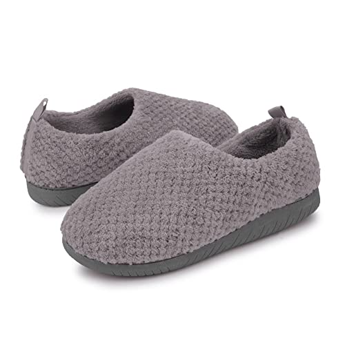 b3e088b1613 JIASUQI Plush Winter Bedroom Slip on Clogs Comfort Warm Shoes Indoor Clog  Slippers for Men and