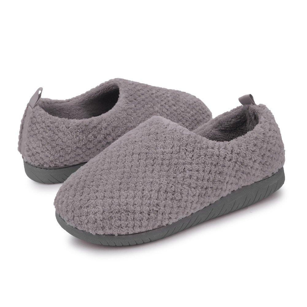 JIASUQI Women's Slip-on Warm Memory Foam Slipper Flat Ankle Shoes Purple US 7.5-8.5 Women, 6-7 Men