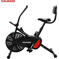 Sparnod Fitness SAB-01 Air Bike Exercise Cycle for Home Gym  -  Free Installation Service  -  adjustable resistance, height adjustable seat with back rest