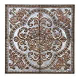 "Deco 79 55472 Metal Wall Plaque, 36"" H x 36"" L, Rusted Gray Finish"