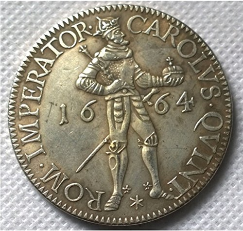 Rare Antique Ancient European 1664 German States Carolvs King Silver Color Coin (Atocha Gold Coin)