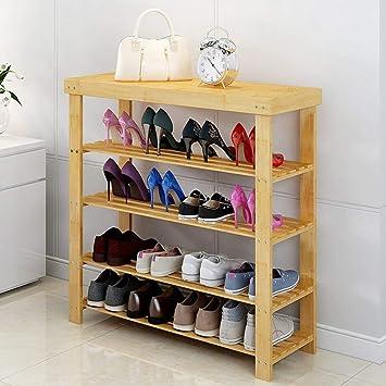 XQY Estante de Zapato de Madera del hogar, gabinete de Zapato, Listones de Madera