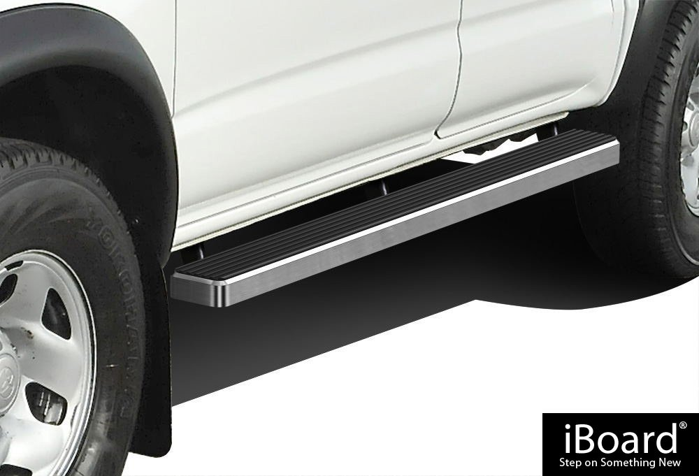 APS iBoard Running Boards 4'' Custom Fit 2005-2019 Toyota Tacoma Double/Crew Cab Pickup 4-Door (Nerf Bars | Side Steps | Side Bars)