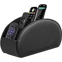 Fintie Remote Control Holder, Vegan Leather TV Remote Caddy Desktop Organizer 5 Compartments Fits TV Remotes, Media…