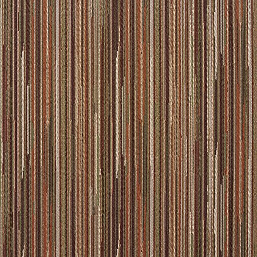 Tamarack Beige and Coral Mint Green Stripe Wood Contemporary Damask Upholstery Fabric by the ()