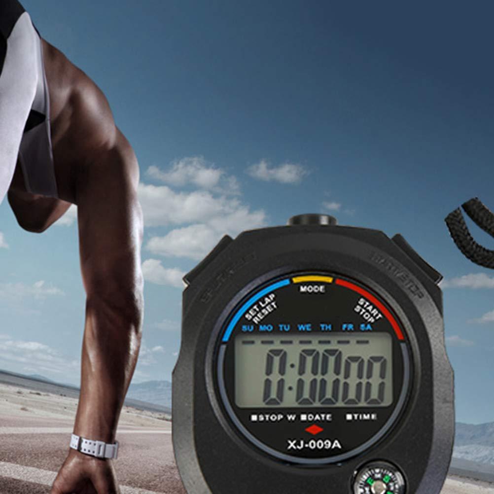 LIOOBO Cronometro 1pc Cronometro Sportivo a Due Vie Cronometro Professionale Temporizzatore elettronico Multifunzione per Sport allaperto