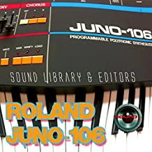 ROLAND JUNO-106 HUGE Original Factory and NEW Created Sound Library & Editors on CD
