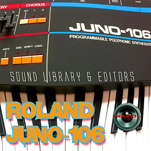 for ROLAND JUNO-106 Large Original Factory and NEW Created Sound Library & Editors on CD or download by SoundLoad
