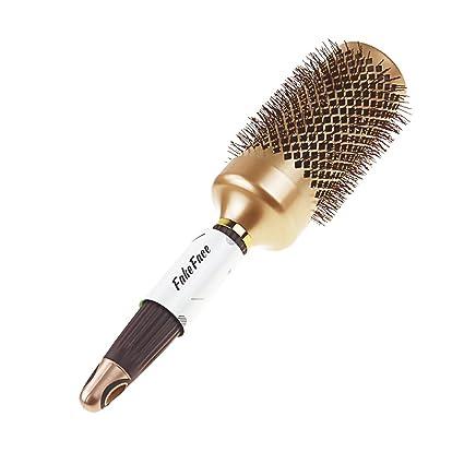 Pelo Cepillos, cepillo redondo Peine Cepillo de pelo golpe seco secado rizado peines para corto