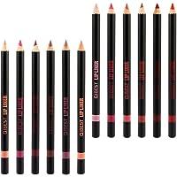 FRCOLOR 12Pcs Lápis Delineador de Lábios Natural Lápis de Maquiagem Suave à Prova D 'Água de Longa Duração Caneta…