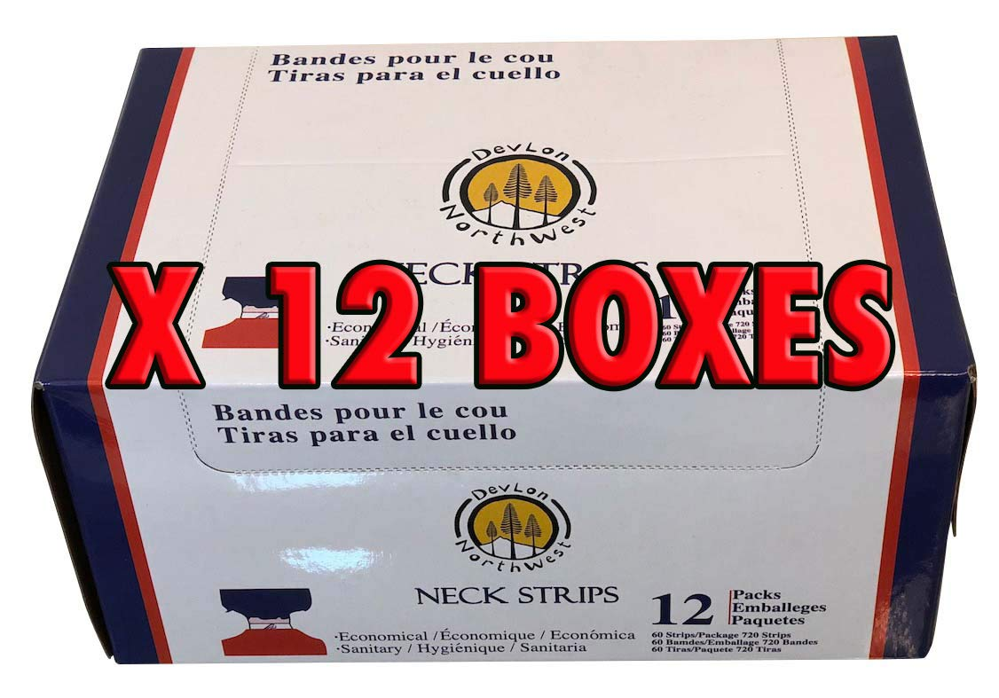 DevLon NorthWest 12 Boxes of Salon Neck Strips Paper 60 Strips Pack Of 12 by DevLon NorthWest