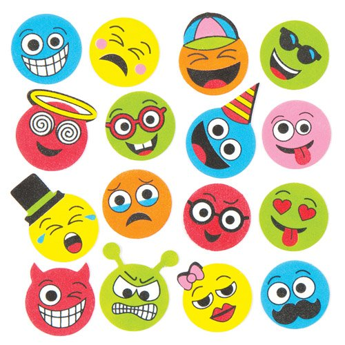 Funny Face Foam Stickers Creative Set of Foam Shapes for Children to Decorate and Personalize Arts & Crafts (Pack of - With Faces Shapes