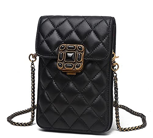 9447e3bf45da Image Unavailable. Image not available for. Color  Chic PU Leather Mini Crossbody  Messenger Bag Cellphone Pouch Wallet Purse Travel Casual Shoulder Bag