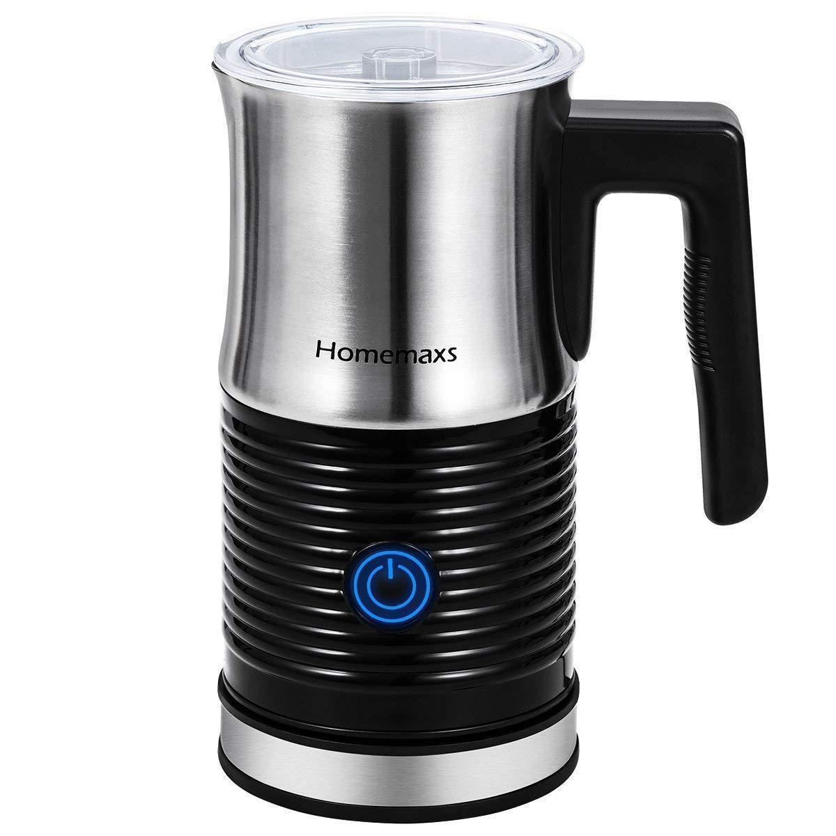 Milk Frother, Homemaxs Electric Milk Frother & Warmer with Hot or Cold Function, Anti-hot Base & Non-Stick Interior Perfect Foam for Coffee, Hot Chocolate, Cappuccino(Black) by Homemaxs (Image #1)