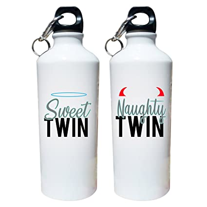 Designer Panda Gifts For Twin Brothers Sisters Sweet Naughty Printed Sipper Water