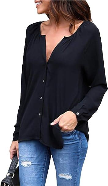 Camicia di jeans Donna asimmetrica camicetta