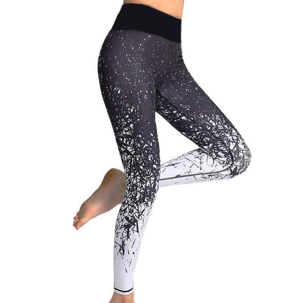 YUYOGAP Frauen Yoga Hosen Fitness Sport Print Hosen Leggings Laufen elastische Hosen Sommer atmungsaktiv Schweiß