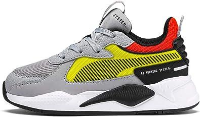 Puma RS-X Hard Drive - Zapatillas deportivas para niños, color amarillo, Gris (High Rise/Yellow Alert), 31 EU: Amazon.es: Zapatos y complementos