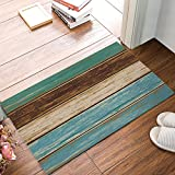 Rustic Wood Custom Door Mat, Barn Farmhouse Indoor Outdoor Non-slip Rubber Entrance Rugs for Bathroom/Front