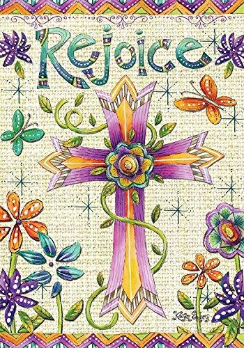 Rejoice Easter Garden Flag Religious Holiday Briarwood Lane 12.5