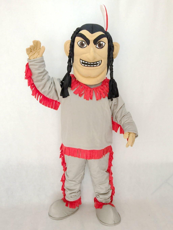 Bonito disfraz indio de nativo americano en fondo rojo: Amazon.es ...
