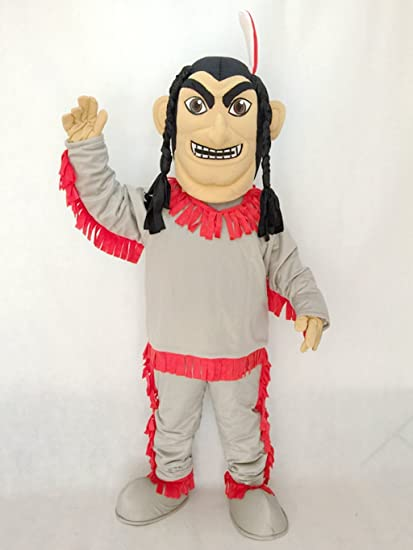 Cute Native American Indian Mascot Costume in Red Bottom & Amazon.com : Cute Native American Indian Mascot Costume in Red ...