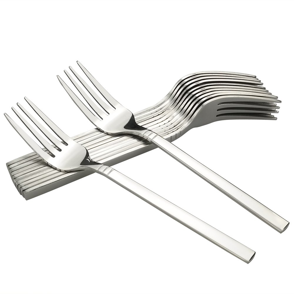 Fosly 12-Piece Stainless Steel Dinner Forks, Table Forks Foslyer