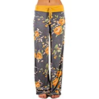 Vibolaa Women's Pants High Waisted Comfy Stretch Wide Leg Leggings Yoga Pants Lounge Pants