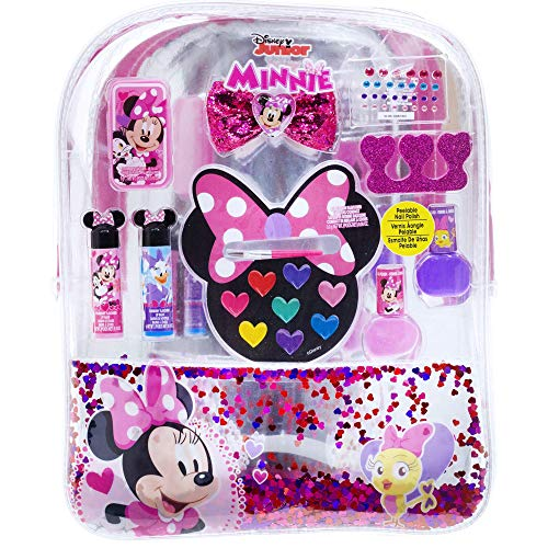 Townley Girl Disney Minnie Mouse Backpack Cosmetic Set White