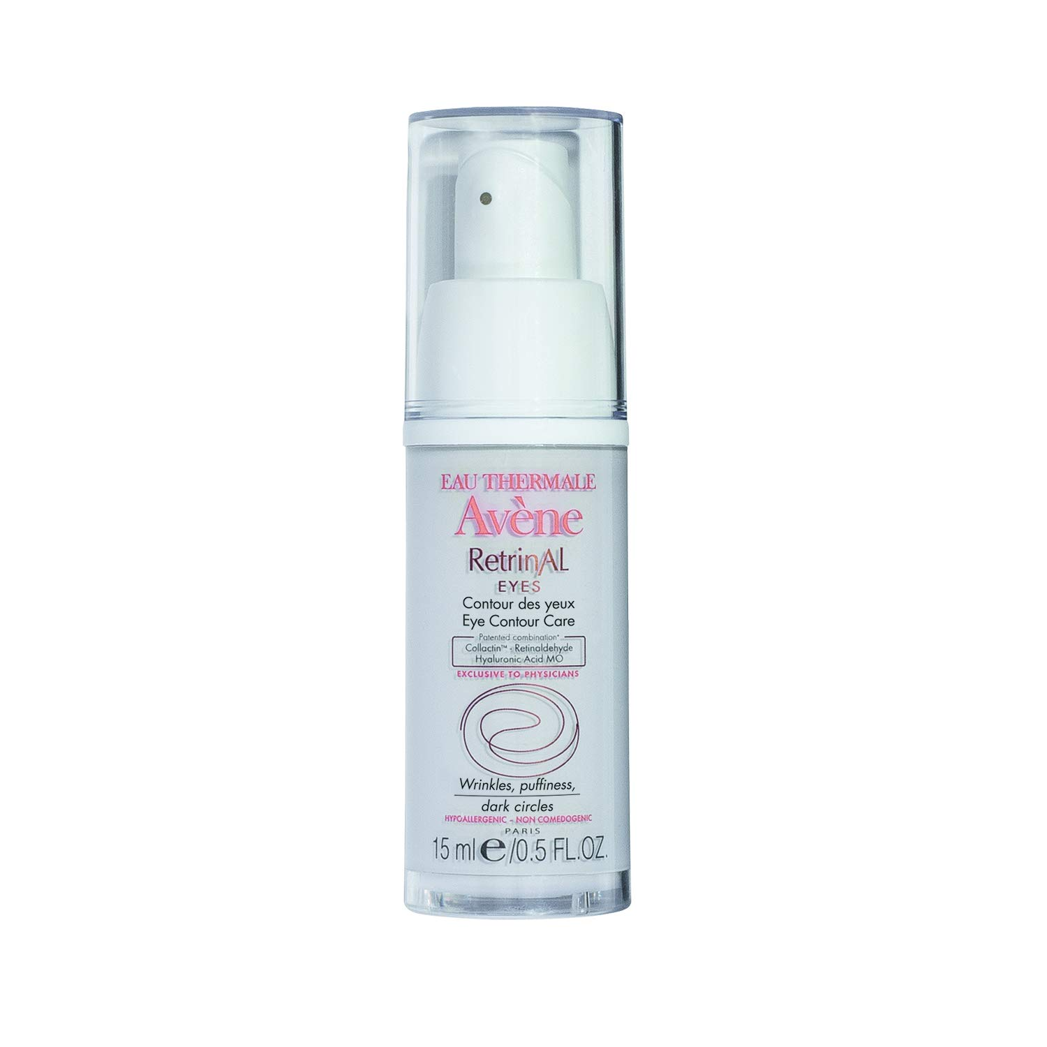 Eau Thermale Avène RetrinAL EYES, Retinaldehyde & Hyaluronic Acid MO, Reduce the Appearance of Fine Lines, Puffiness, Dark Circles, 0.5 oz.