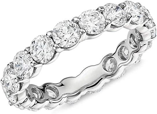 USA Seller Eternity CZ Ring Sterling Silver 925 Best Deal Jewelry Size 4