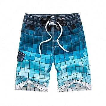 DAHDXD Pantalones Cortos de Playa para Hombres Traje de baño ...