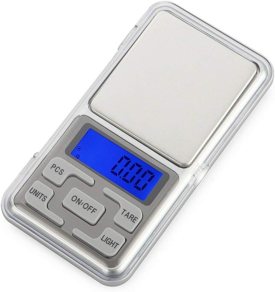 Bilancia Digitale di precisione Argento Bilance per Gioielli Mini Portatile Bilancia Digitale Bilancia 500g-0.01g Digital Pocket Bilancia