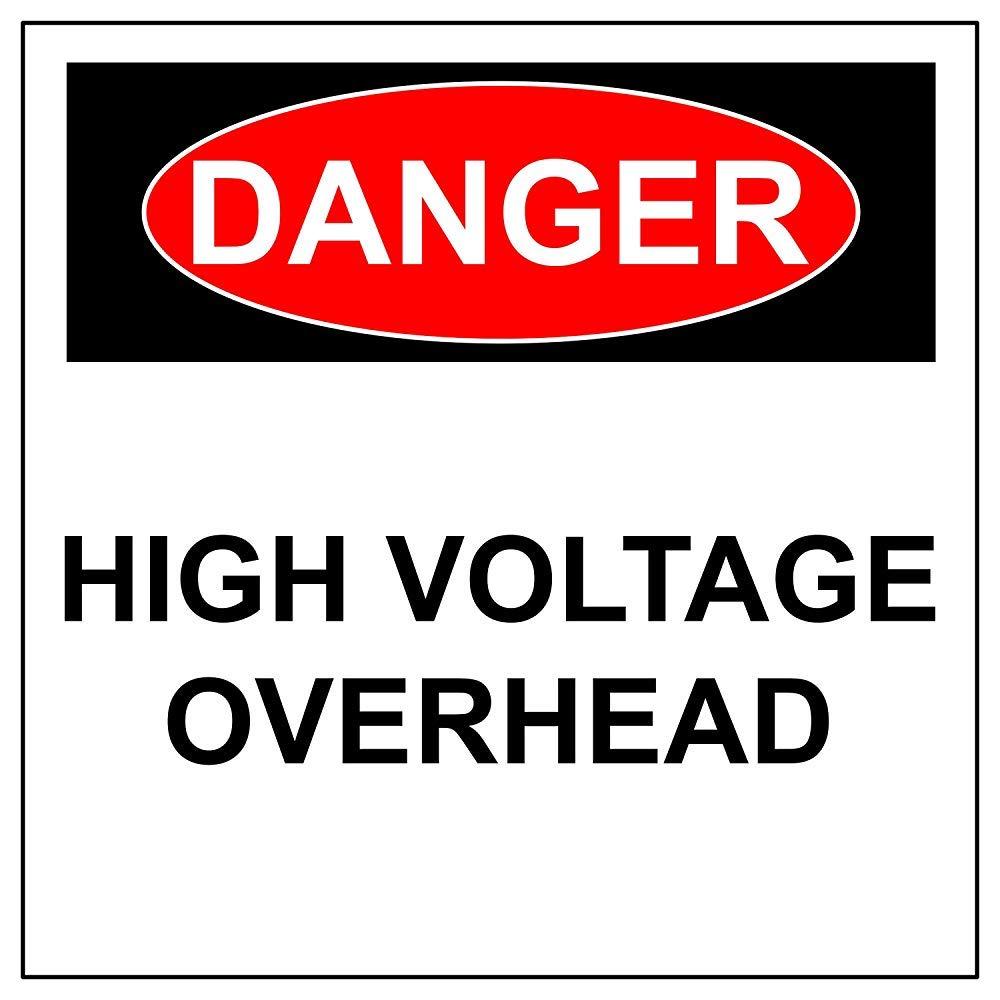 Señal de advertencia de seguridad eléctrica de alta tensión ...