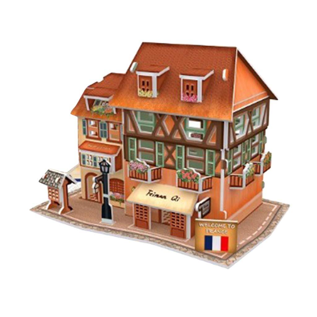 Home Decoration European Architecture House Miniature House Buildings for Children Birthday Gift Homyl Dollhouse Wooden Room Kit