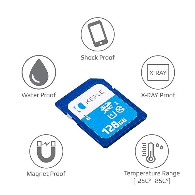 128GB SD Card Class 10 High Speed Memory Card Compatible with Canon Powershot SX60, SX610 HS, SX710 HS, SX530 HS, SX410 is, G7, G7 X, SX720, SX540, ...