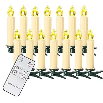 Led Kerzen Weihnachtsbeleuchtung.Sunjas 10 20 30 40 Er Weinachten Led Kerzen Weihnachtsbeleuchtung Lichterkette Weihnachtskerzen Weihnachtsbaum Kerzen Mit Fernbedienung Kabellos 3