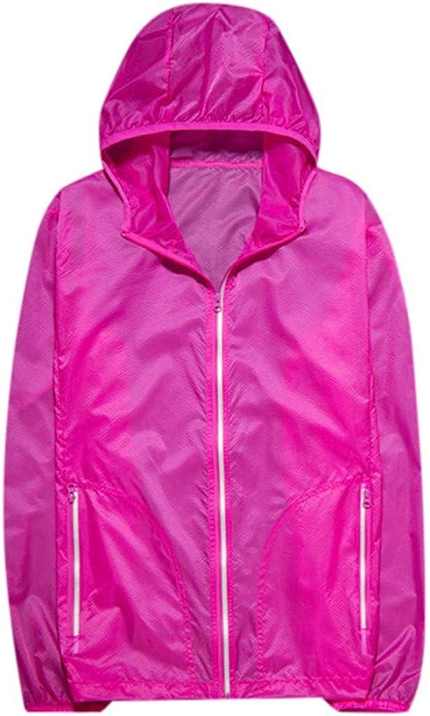 Men Women Outdoor Sport Windproof Jacket Quick Dry Pockets Bicycle Hoodie Coat