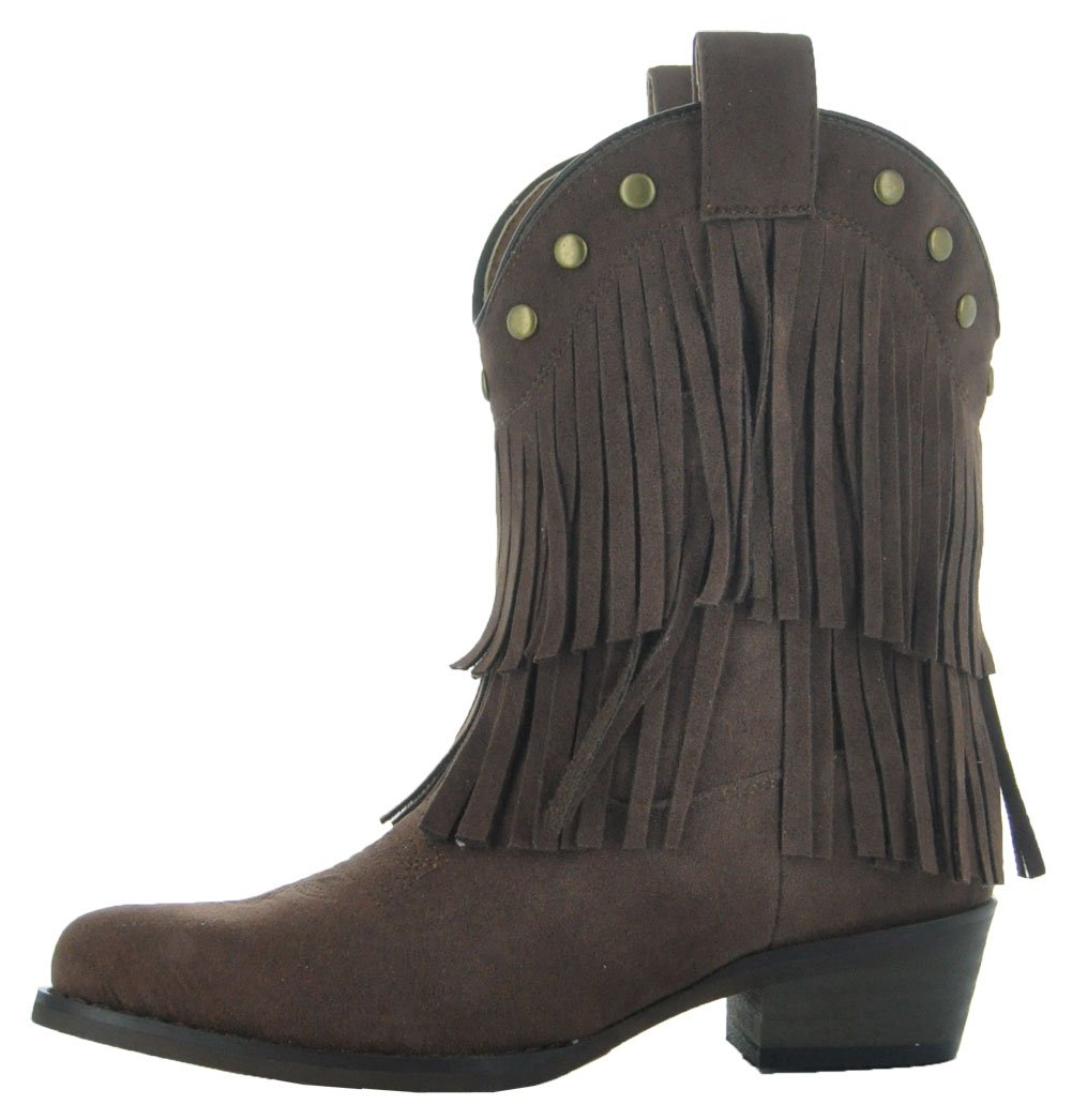 Little Kids Fun Fringe Brown Cowgirl Boots by Country Love Boots (1 Little Kids, Brown) by Country Love Boots (Image #2)