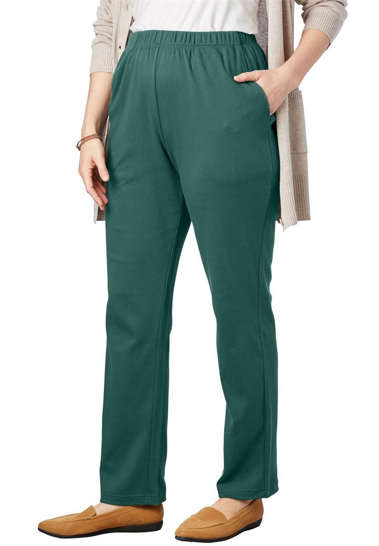 Woman Within Women's Plus Size Tall 7-Day Knit Straight Leg Pant by Woman Within (Image #1)