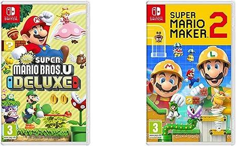 New Super Mario Bros. U Deluxe + Super Mario Maker 2: Amazon.es: Videojuegos